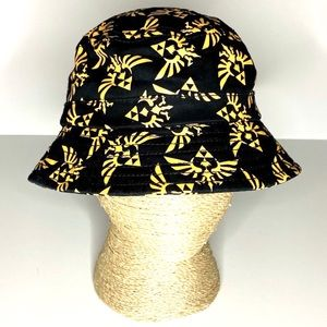 Zelda Unisex Black Orange Graphic Bucket Hat